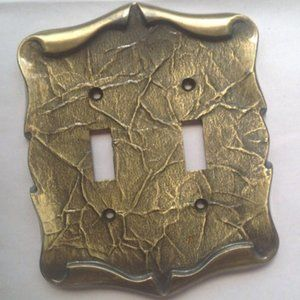 Vintage Amerock Double Switch Plate Cover